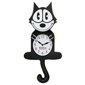 Felix the Cat Pendulum Black Hanging Wall Clock Licensed