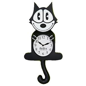 Amazon Com Felix The Cat 3 D Motion Clock Wall Clocks