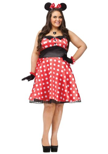 Halloween 2017 Disney Costumes Plus Size & Standard Women's Costume Characters - Women's Costume CharactersRetro Minnie Mouse Plus Size Adult Costume