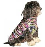 Chilly Dog Purple Woodstock Dog Sweater, Medium