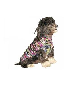 Chilly Dog Purple Woodstock Dog Sweater, Large