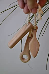 Barin Toys Teether Sticks, BPA free. Natural, organic wooden teether for Babies