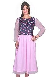 Selfi Dual Colored Printed Georgette Casual Dress