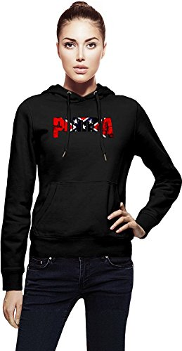Pantera Band Colorful Logo Cappuccio da donna Women Jacket with Hoodie Stylish Fashion Fit Custom Apparel By Genuine Fan Merchandise Small