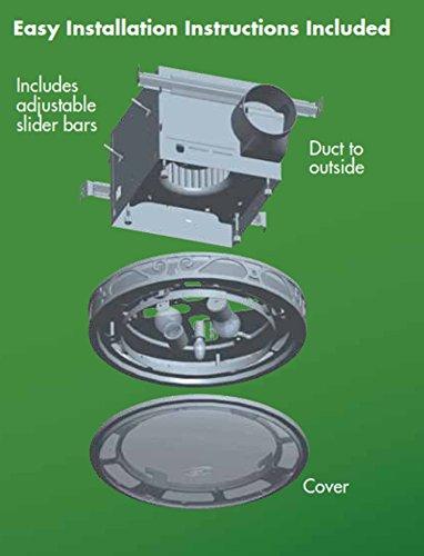 Hunter 83002 Ventilation Sona Bathroom Exhaust Fan With Light Imperial Bronze Bathroom Vent