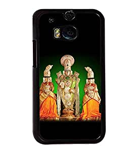 Fuson Premium 2D Back Case Cover Lord Venkateswara With Purple Background Degined For HTC One M8::HTC M8