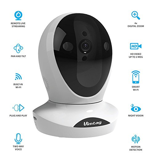 Find Bargain Vimtag® P1 Premium IP Wireless Network Security Camera, Plug/Play, Pan/Tilt with Two-W...