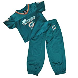NFL Miami Dolphins Fins Reebok Jersey Pant 2 Piece Set Toddler DK6007 Aqua by Officially Licensed NFL Product