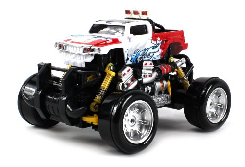 Graffiti Hummer H3T Pickup Electric Rc Drift Truck 1:18 Scale 4 Wheel Drive Ready To Run Rtr, Working Spring Suspension, Perform Various Drifts (Colors May Vary)
