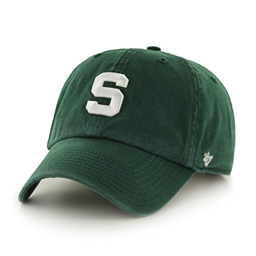 Ncaa Michigan State Spartans '47 Brand Clean Up Adjustable Hat, Dark Green, One Size front-942429