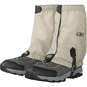Outdoor Research Men's Bug Out Gaiters, Tan, Large