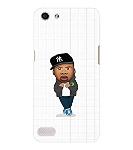 EPICCASE Cool Guy with Cap Mobile Back Case Cover For OPPO Neo 7 (Designer Case)