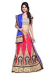 Georgette Party Wear Lehenga Choli in Blue and Pink Colour