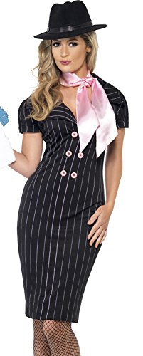 Smiffys Womens Sexy Mafia Gangster Pencil Dress Halloween Costume