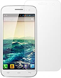 ShopAIS Anti Burst Premium Tempered Glass Screen Guard Screen Protector for Micromax Canvas 2.2 A114 (Clear)