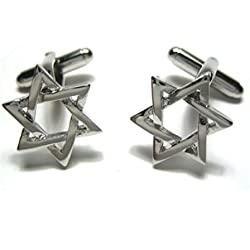 Jewish Star of David Cufflinks