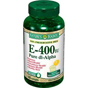 Nature'S Bounty E-400 Iu, Pure Dl-Alpha 120 Softgels
