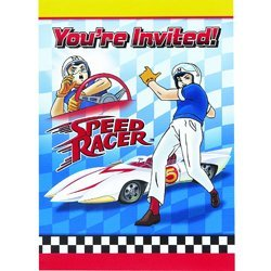 Speed Racer Invitations w/ Envelopes (8ct)