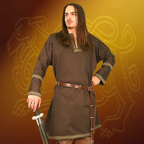 Cotton Viking Tunic LARP Renaissance Faire Halloween Costume