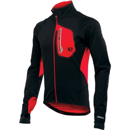 Pearl Izumi Men's Pro Softshell 180 Jacket - Black/ True Red, Small