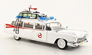 Cadillac Commercial, Ecto 1 - Ghostbusters (Elite), 1959, Model Car, Ready-made, Mattel Elite 1:18