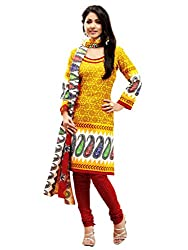 PARISHA Crepe Yellow Women's Chudidar Suit WLC2002