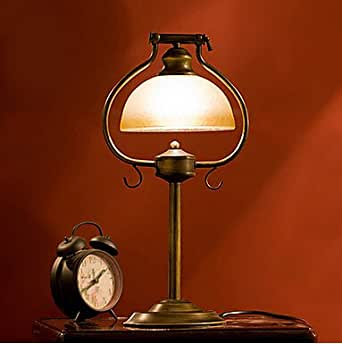 Western style wrought iron table lamps bedside lamp bedroom work lamp