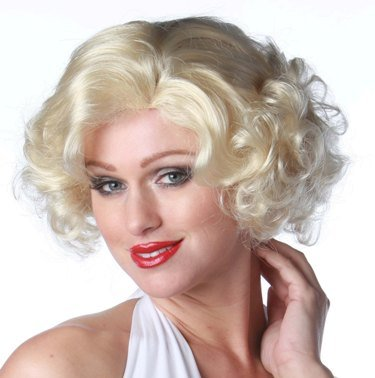 Sexy Marilynnroe Short Blonde Halloween Costume Wig Adult