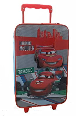 Disney Cars Childrens Trolley Suitcase Hand Luggage Lightning Mcqueen Bag by Disney