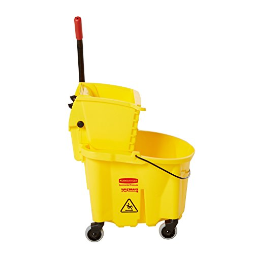 Rubbermaid Commercial WaveBrake Mopping System Bucket and Side-Press Wringer Combo, 26-quart, Yellow (FG748000) (Side Press Bucket Wringer compare prices)