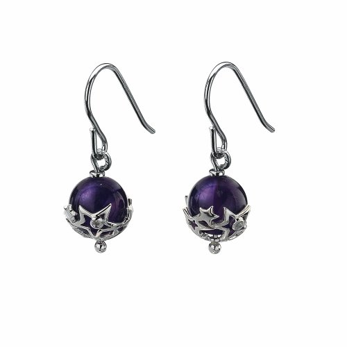 Hot Diamonds Just Add Love Orb Earrings - Amethyst