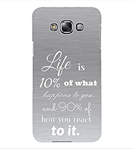 Colourcraft Quotes Back Case Cover For Samsung Galaxy Grand 3