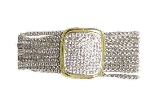 Designer Inspired Rectangle Cz Pendant Bracelet