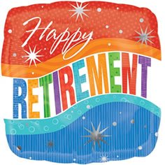 Mayflower Distributing - Happy Retirement Sparkle Foil Balloon