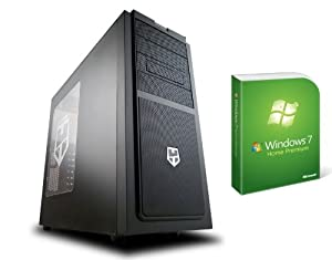 AroPC® - Gaming PC - New Hummer - Ivy Bridge 1155 (Intel Quad Core i5-3330 with open multiplier (4x 3.0) and 4 x 3.2 GHz in turbo boost), the cooling tower Scythe Mugen 3, MSI Z77 Mpower, 8 GB DDR3 -1600 PC, Nvidia GeForce GT 620 1 GB, 1 TB HDD SATAIII 6Gb / s, 256 GB SSD OCZ Vertex 4 SATA III, 10x Blu-ray, Xilence 600W 80 +, Nox Hummer SX, including Win7 HP 64 bit is
