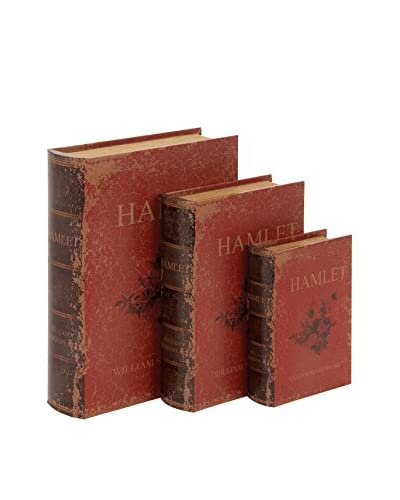 Set of 3 Hamlet Book Boxes, Red As You See