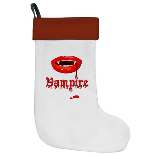 Christmas Stocking Vampire Fangs Dracula