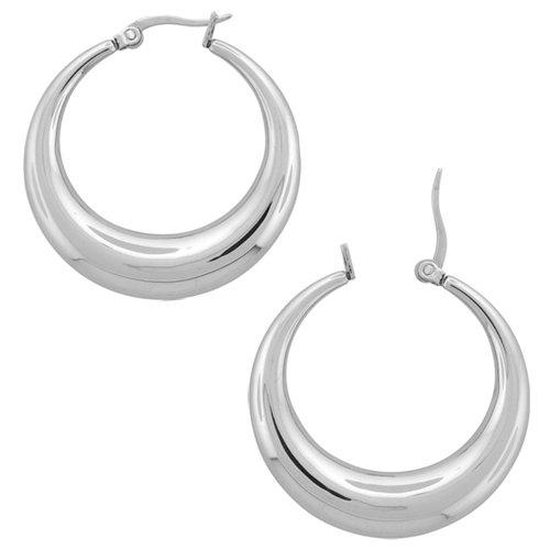 50mm - Inox Jewelry Thick 316L Stainless Steel Hoop Earrings
