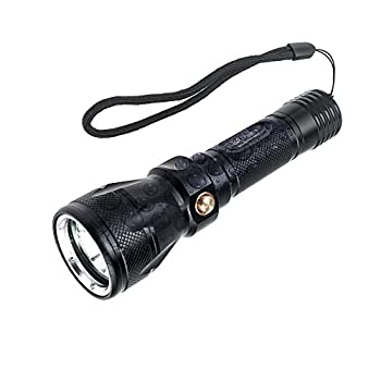 TurnRaise Scuba Dive LED Flashlight 1200Lumen XM-L2 Underwater Torch 100m Waterproof Submarine Light Tactical Lamp (Battery & Charger Not Included)