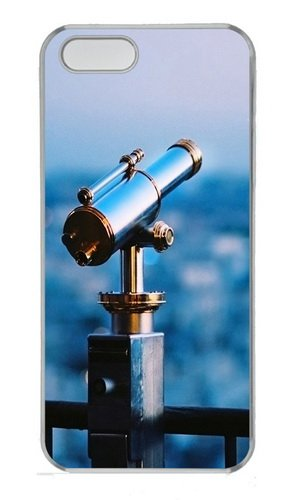 Astronomical Telescope Polycarbonate Plastic Hard Case For Iphone 5S And Iphone 5 Transparent