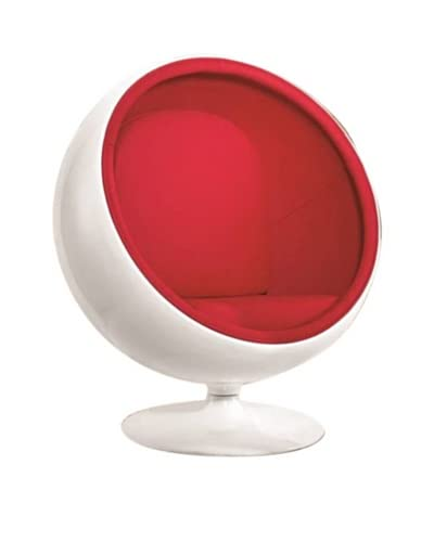 Manhattan Living Ball Chair, Red