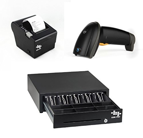 Cheap EOM-POS Heavy Duty Cash Register Drawer + Thermal Receipt Printer (80mm) + Barcode Scanner (Co...