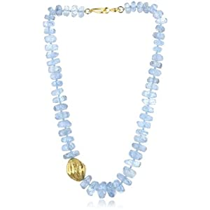 Nava Zahavi Sensation Aquamarine and 18K Solid Gold Nugget Necklace