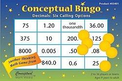 Conceptual Bingo-Decimals