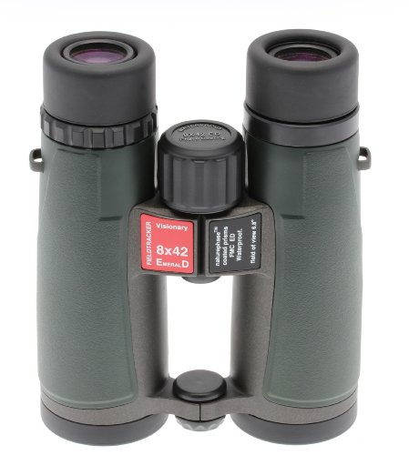 Visionary 8x42 Fieldtracker EmeralD ED Binoculars - Fully Waterproof - Phase Coated - ED Glass - Bird Watching / Nature Viewing - Supplied with Case and Strap - 10 Year Manufacturer Guarantee.
