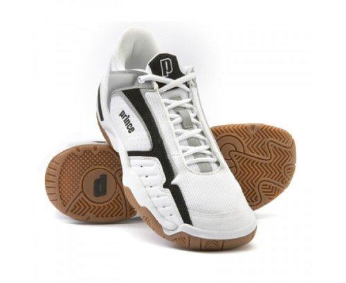 Prince NFS IV Indoor Squash Shoes, Size- 9.5 UK, Color- White/Black