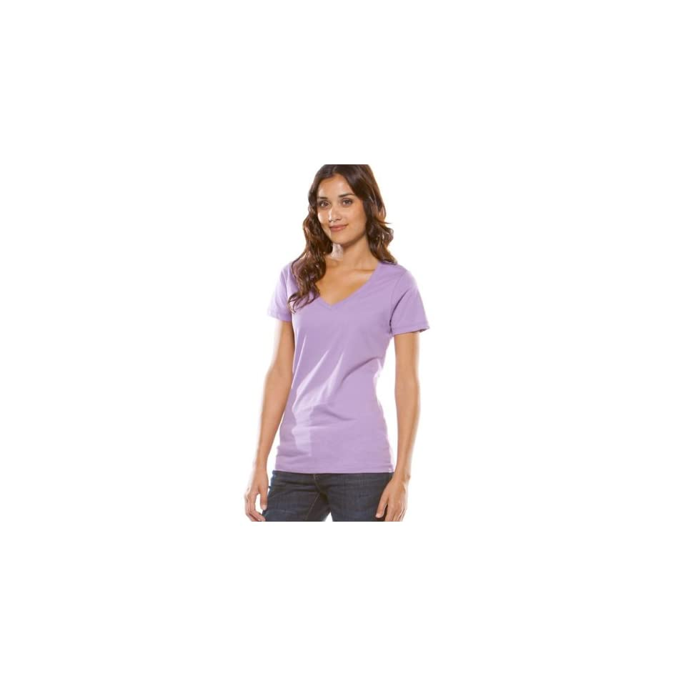 Oakley Classic V Womens Short Sleeve Fashion T Shirt/Tee   Chrome Purple / X Large