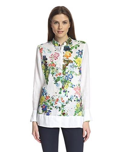 Paperwhite Women's Printed Linen Shirt
