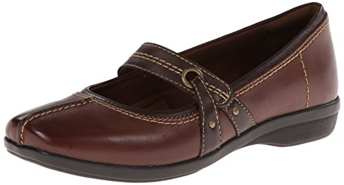 Clarks Women's Haydn Maize Mary Jane Flat, Brown Leather, 8 M US (Women Shoes Brown compare prices)