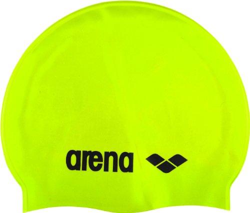 Arena Cuffia da nuoto unisex classico in silicone, unisex, Badekappe Classic Silicone, Acid-Lime- Black, Taglia unica